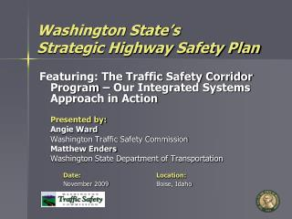 Washington State's Strategic Highway Safety Plan