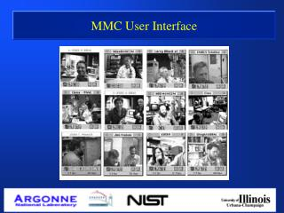 MMC User Interface