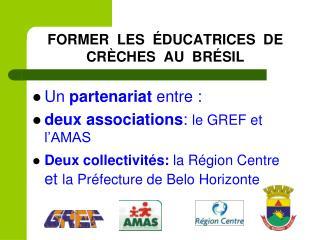 FORMER  LES  ÉDUCATRICES  DE  CRÈCHES  AU  BRÉSIL