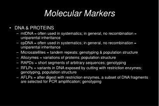 Molecular Markers