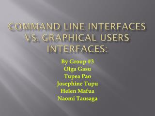 Command line interfaces vs. graphical users interfaces: