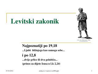 Levitski zakonik