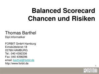 Balanced Scorecard Chancen und Risiken