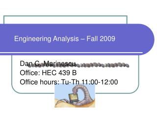 Engineering Analysis – Fall 2009