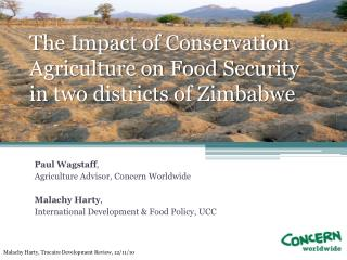 The Impact of Conservation Agriculture on Food Security in two districts of Zimbabwe