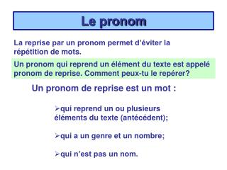 Le pronom