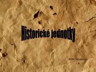 Historické jednotky