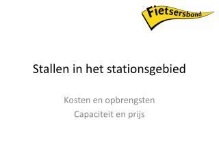 Stallen in het stationsgebied
