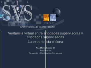 Ventanilla virtual entre entidades supervisoras y entidades supervisadas La experiencia chilena
