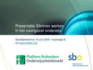 Presentatie Slimmer werken in het voortgezet onderwijs