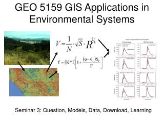 GEO 5159 GIS Applications in Environmental Systems