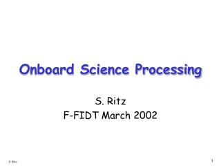 Onboard Science Processing