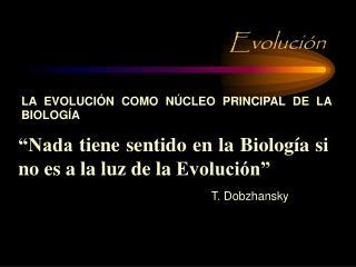 Evoluci�n