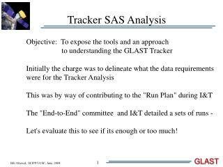 Tracker SAS Analysis