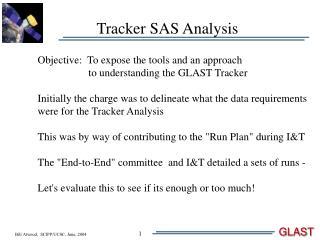 Tracker SAS Analysis