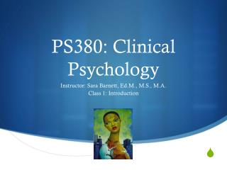 PS380: Clinical Psychology