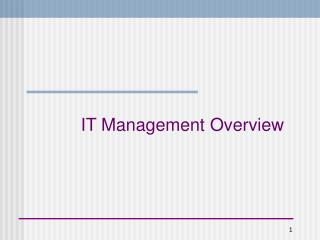 IT Management Overview