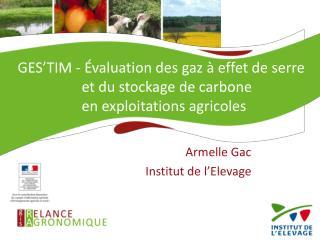 Armelle Gac Institut de l'Elevage