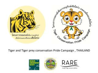 Tiger and Tiger prey conservation Pride Campaign , THAILAND
