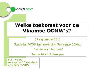 Welke toekomst voor de Vlaamse OCMW's?