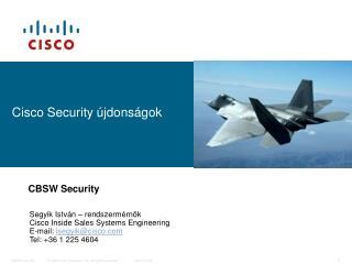 Cisco Security újdonságok