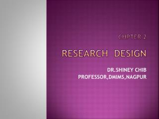 CHPTER 2 RESEARCH  DESIGN