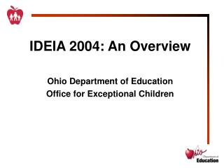 IDEIA 2004: An Overview