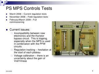 PS MPS Controls Tests