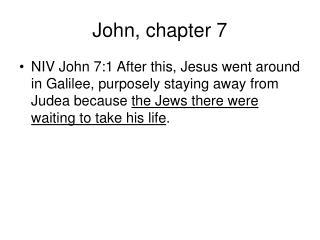 John, chapter 7