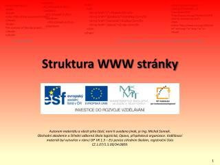 Struktura WWW stránky