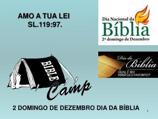 2 DOMINGO DE DEZEMBRO DIA DA BÍBLIA