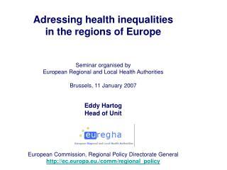 Adressing health inequalities  in the regions of Europe