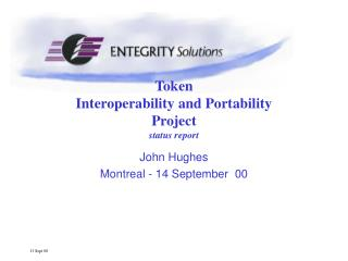 Token  Interoperability and Portability Project status report