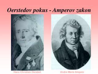 Oerstedov pokus - Amperov zakon