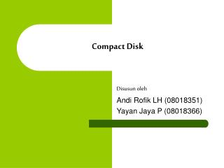 Compact Disk