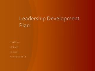 Leadership Development Plan
