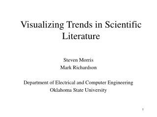 Visualizing Trends in Scientific Literature