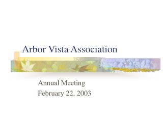 Arbor Vista Association