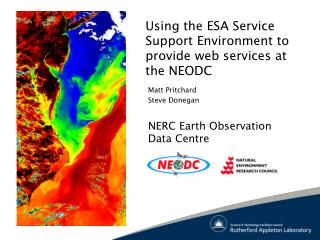 Using the ESA Service Support Environment to provide web services at the NEODC