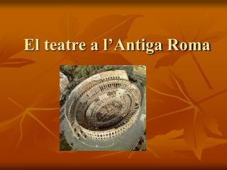 El teatre a l'Antiga Roma