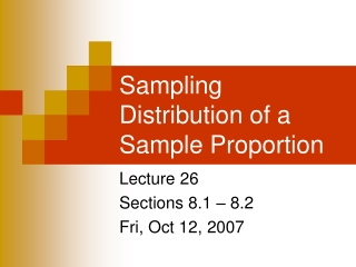 Lecture 15: Statistics and Their Distributions, Central Limit Theorem