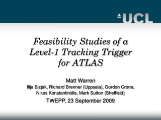 Feasibility Studies of a Level-1 Tracking Trigger for ATLAS