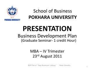 School of Business POKHARA UNIVERSITY