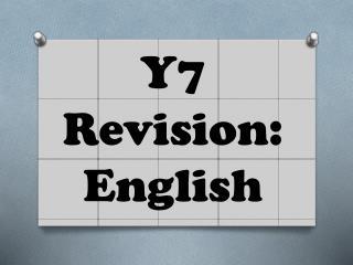 Y7 Revision:  English
