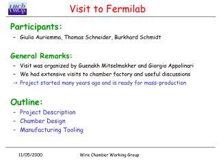 Visit to Fermilab