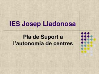 IES Josep Lladonosa