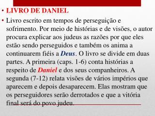 LIVRO DE DANIEL