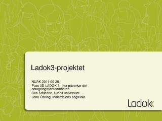Ladok3-projektet