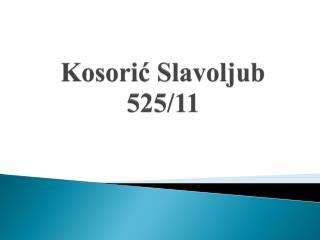 Kosorić Slavoljub  525/11