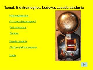 Temat: Elektromagnes, budowa, zasada działania